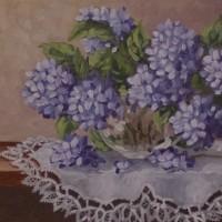 artist anna lowther painting hydrangea