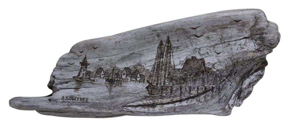 Anna Lowther Pyrographic Port Town Artist