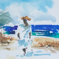 Bob Callahan Watercolor Jamaica Artist