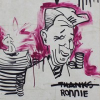 Bobby Castaneda Painting Thanks Ronnie Artist