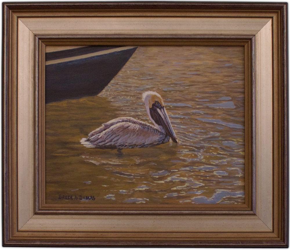 artist bruce dumas painting pelican