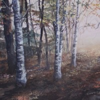 Gerald A. Robillard Painting Forrest Artist