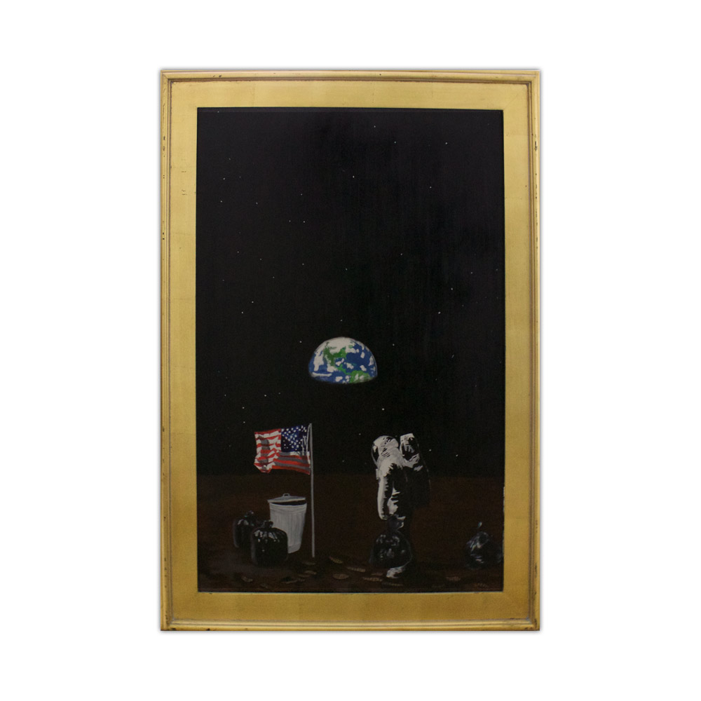 Hans Swanson Space Trash Painting