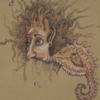 Heather Gargon Seahorse Drawing Artist