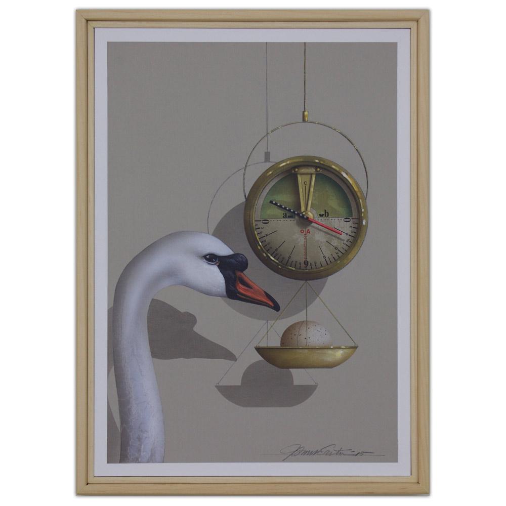 James Carter Painting Swan Artist