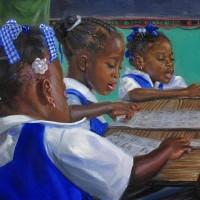Jonathan Gladding Painting School Children Artist