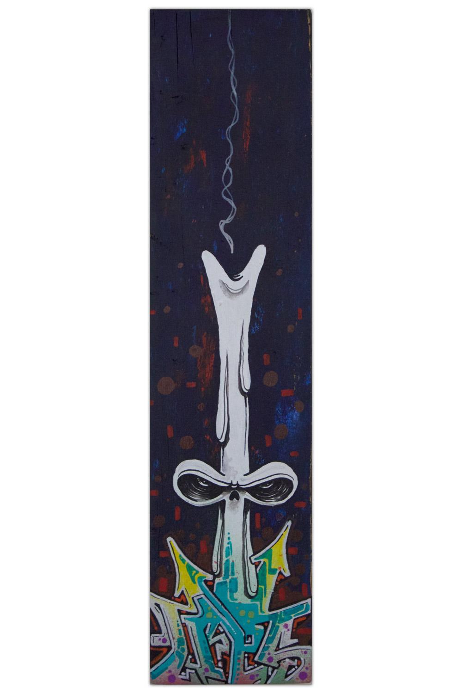 Lalo Cota Skull Candel Painting Artist