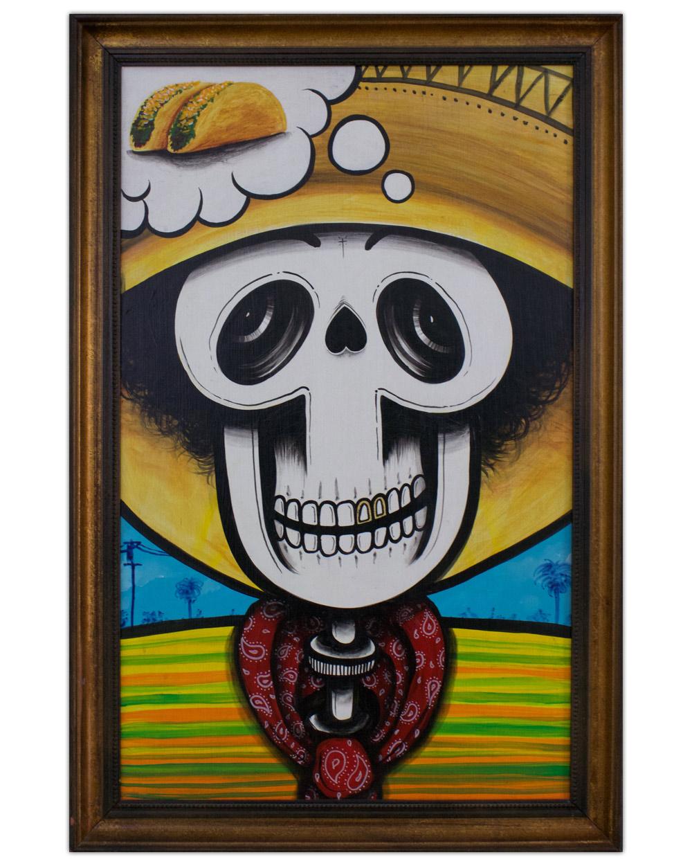 Lalo Cota Skull Tacos Painting Artist