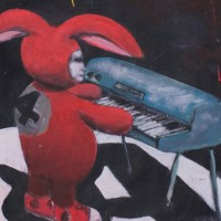 Mike Little Bunny Painting Artist