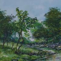 Richard Hall Painting Jamaica Landscape Artist
