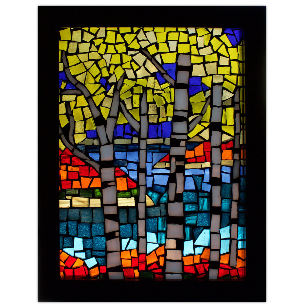 Sandra Forrest Trees Stained Glass